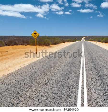 An image of a road sign in Australia - stock photo