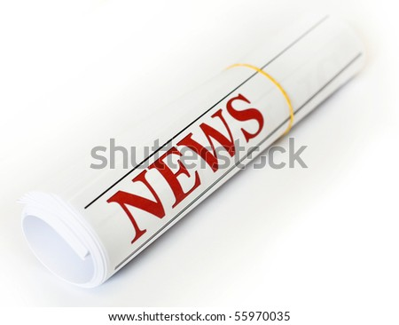 An image of a roll of magazine - stock photo