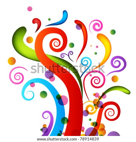 An image of a set of celebration confetti elements. - stock photo