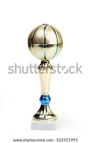 An image of a shiny basketball award - stock photo