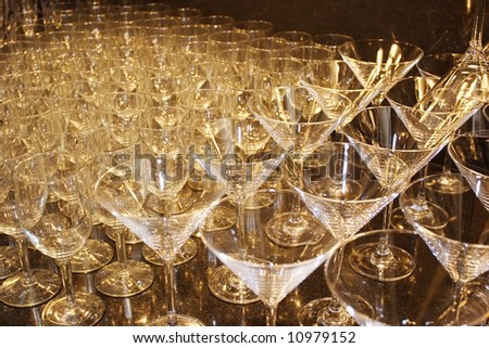 An image of a small bar set up - stock photo