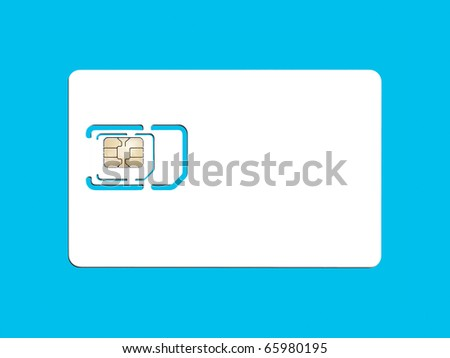 An image of a smart card for cell phones - stock photo