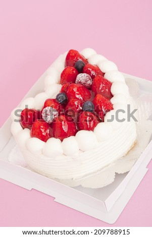 An Image of A Strawberry Cake