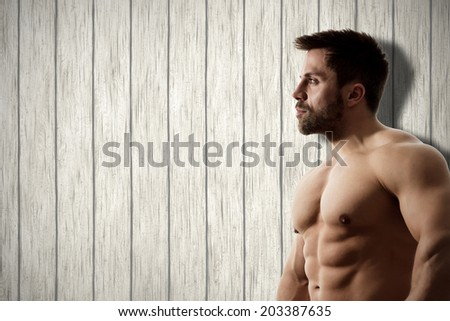 An image of a strong man background - stock photo