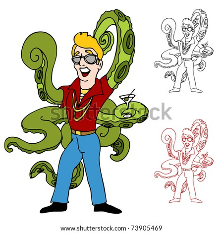An image of a swinger with octopus arms.