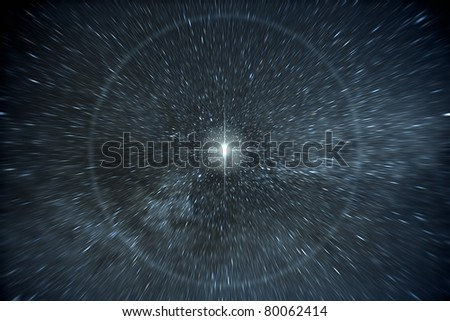 An image of a time warp stars background - stock photo