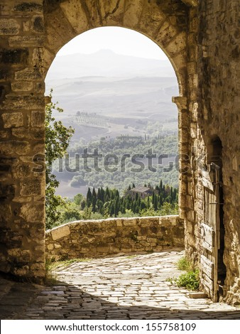 An image of a Tuscany landscape in Italy - stock photo