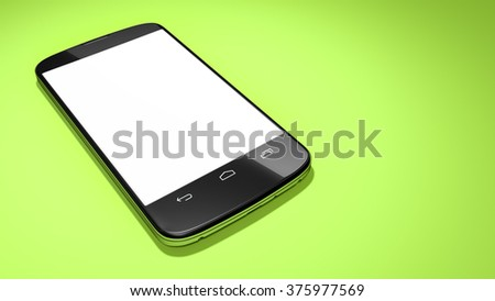 An image of a typical smart phone with space for your content