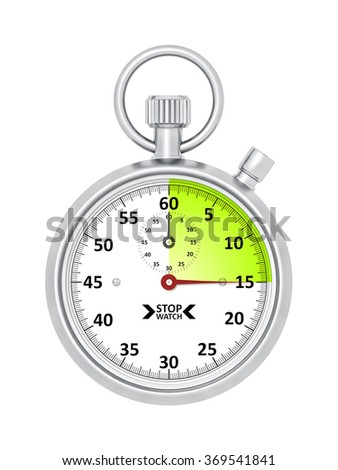 An image of a typical stopwatch 15 seconds
