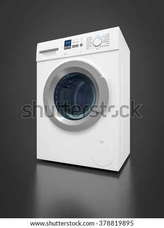 An image of a typical washing machine - stock photo