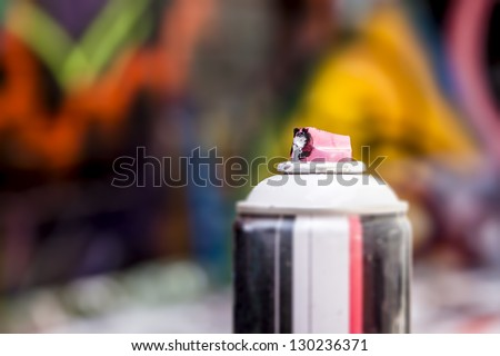 An image of a used graffiti spray - stock photo