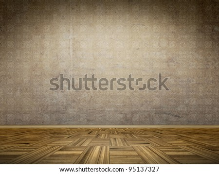 An image of a vintage room background - stock photo