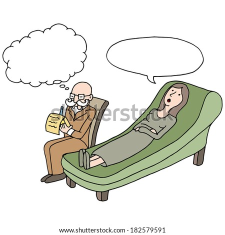 An image of a woman having a therapy session. - stock photo