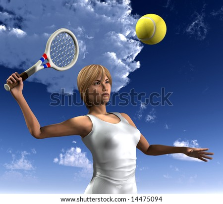 An image of a women about to hit a tennis ball whilst playing tennis.