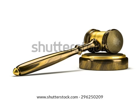 An image of a wooden judge gavel - stock photo