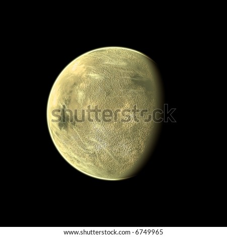 an image of a yellow planet in the space