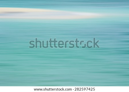 An image of an abstract seascape in motion blur