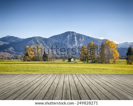 An image of an autumn scenery in bavaria germany - stock photo