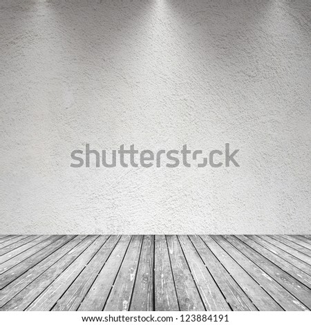 an image of an empty room with gray tones