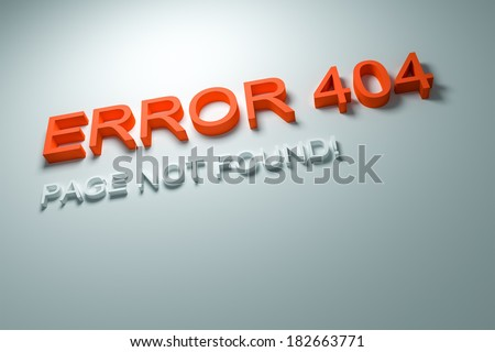 An image of an Error 404 - Page not found! - stock photo