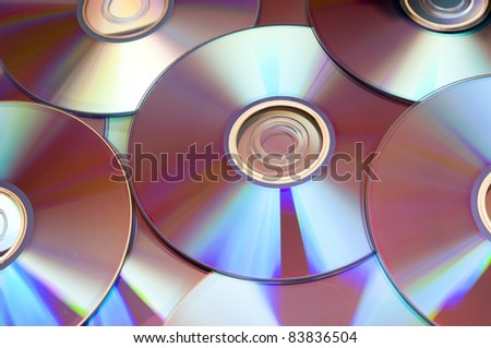 An image of background from the compact discs of DVD - stock photo