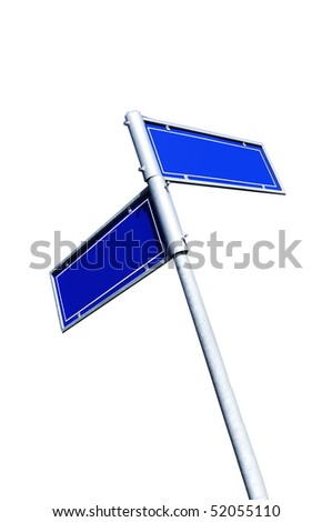 An image of blue road sign - stock photo