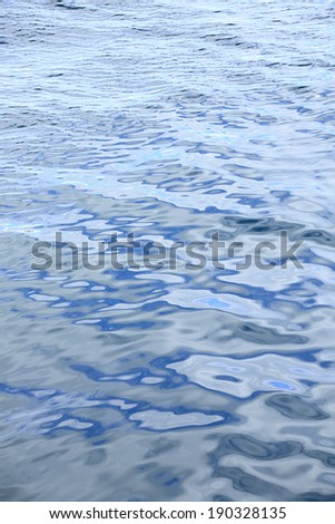An image of Blue water surface