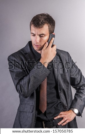 an image of businessman using a mobile phone
