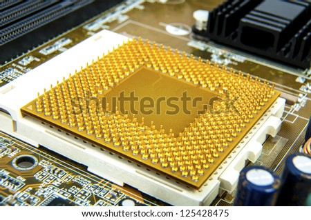 An image of central processing unit. CPU - stock photo