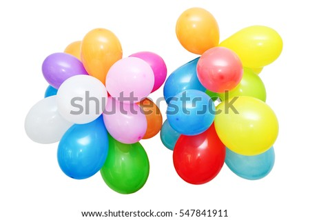An image of colored ballons on white background