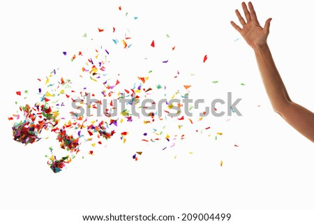 An Image of Confetti - stock photo