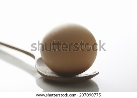An Image of Egg And Spoon - stock photo