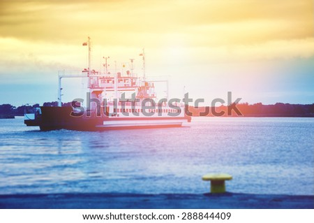 An image of ferry boat - stock photo