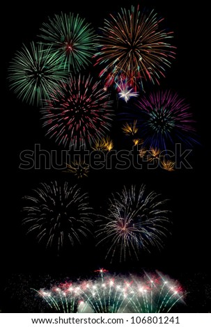 An image of fireworks at night