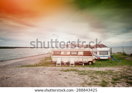 An image of fishing village - stock photo