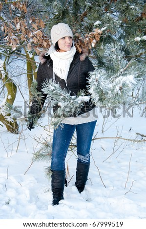 An image of girl enjoying winter walk