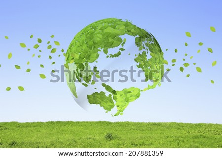 An Image of Globe,Leaf And Grassland