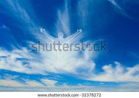 An image of god in heaven - stock photo