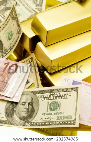 An Image of Gold Bullion