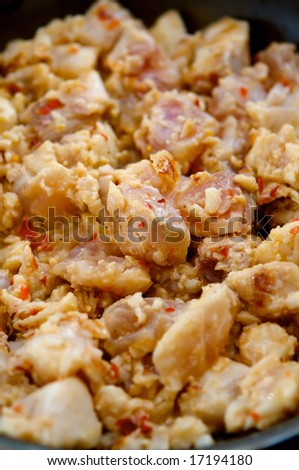 An image of gourmet asian chicken with seasonings