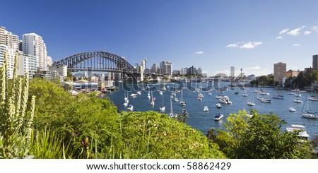An image of harbor bridge in Sydney - stock photo