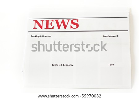 An image of headlines of a newspaper - stock photo