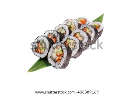 an image of Japanese seafood sushi - stock photo