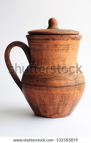 An image of  jug on the white background - stock photo