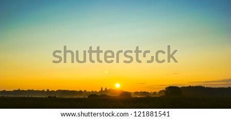 An image of landscape during spring - stock photo