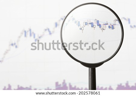 An Image of Magnifying Glass - stock photo