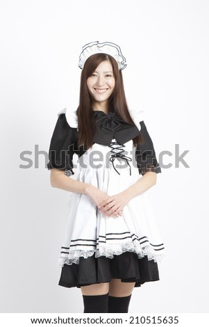 An Image of Maid Costume Play