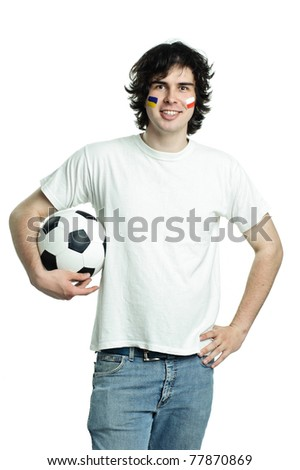 An image of man with soccer ball - stock photo