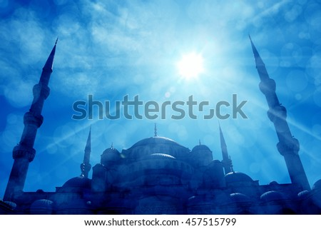 an image of mosque in Istanbul - stock photo