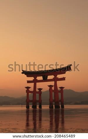 An Image of Ootorii Of Miyajima - stock photo